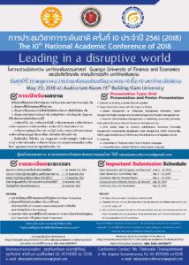 การประชุมทางวิชาการระดับโลก-มหาวิทยาลัยสยาม-ครั้งที่10-2561