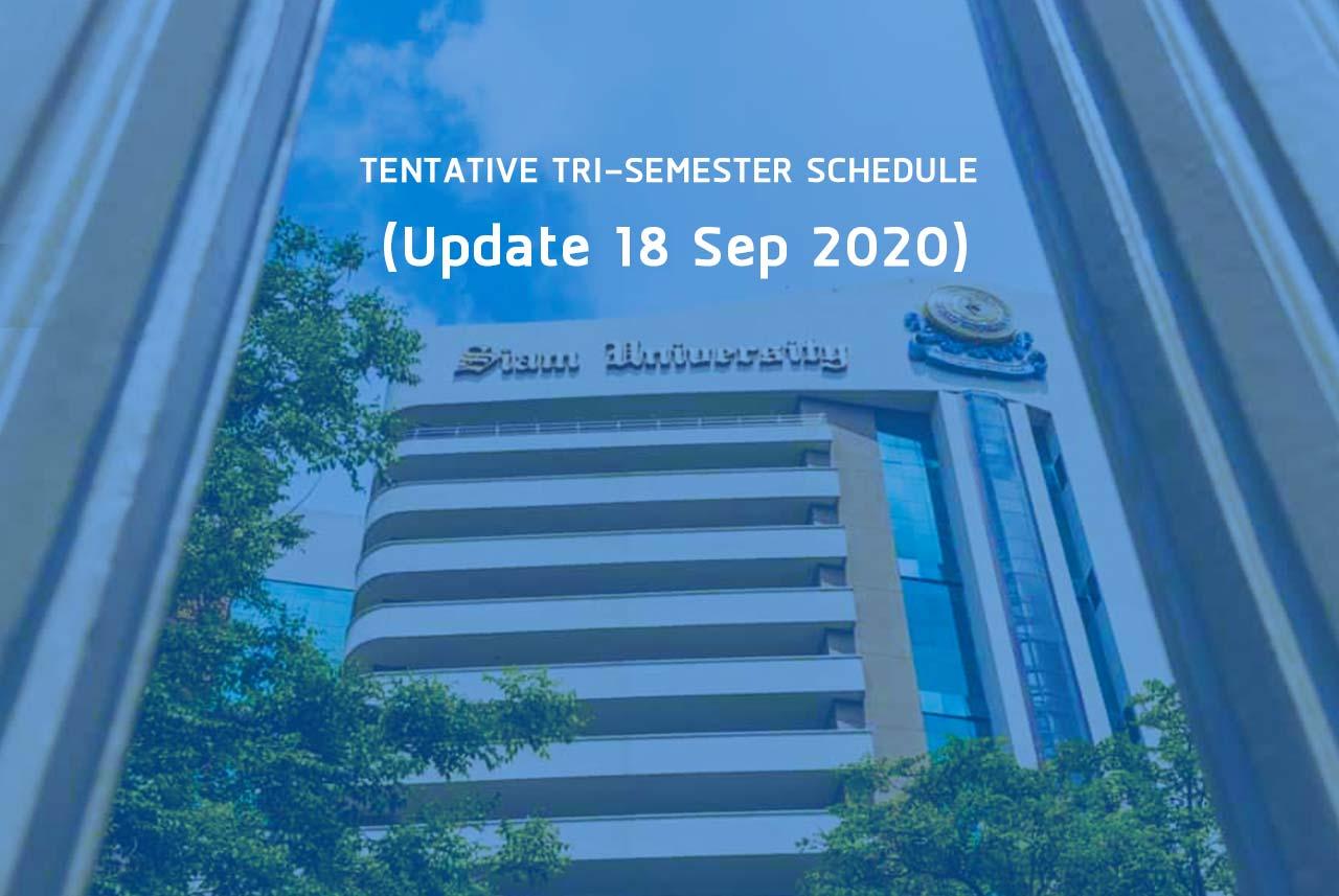 MBA CLASS SCHEDULE Semester 1/2020 (September-December 2020)