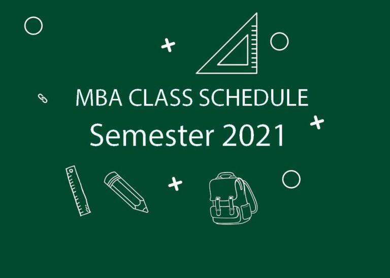 MBA CLASS SCHEDULE Semester